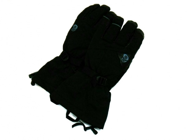 マウンテンハードウェア 手袋 XS メンズ 黒 ナイロン×レザ×ポリエステル