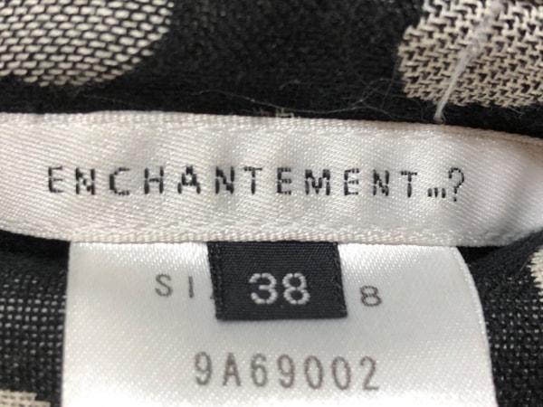 ENCHANTEMENT...?(アンシャントマン) コート サイズ38 M レディース 黒×白×グレー