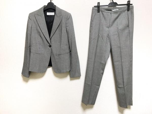 マックスマーラ レディースパンツスーツ サイズ38 S レディース美品  黒×白 千鳥格子