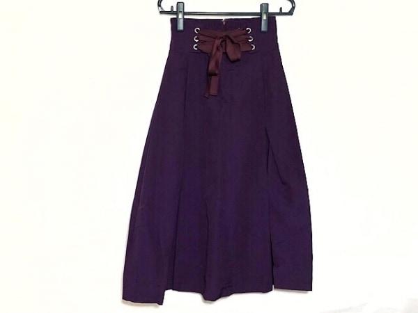 UN3D.(アンスリード) スカート サイズ36 S レディース新品同様  パープル