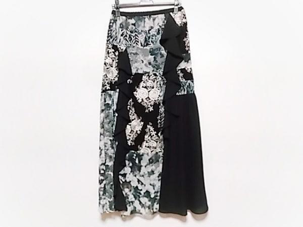 グレースコンチネンタル ロングスカート サイズ36 S レディース美品  黒×白×グレー