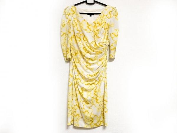 EPOCA(エポカ) ドレス サイズ40 M レディース美品  アイボリー×イエロー 花柄
