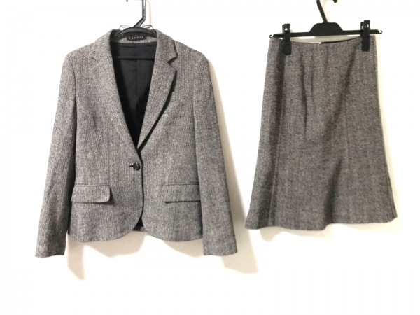 theory(セオリー) スカートスーツ サイズ2 S レディース アイボリー×黒