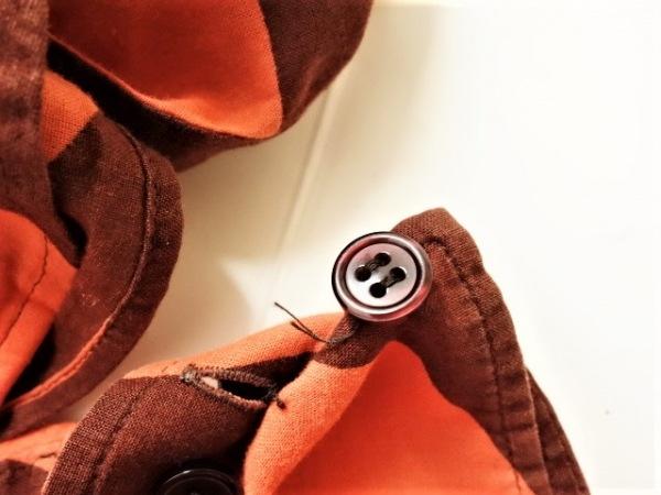 ポールスミスブラック 長袖シャツブラウス サイズ40 M レディース オレンジ×ボルドー