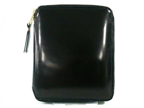 COMMEdesGARCONS(コムデギャルソン) 2つ折り財布美品  黒 ラウンドファスナー レザー
