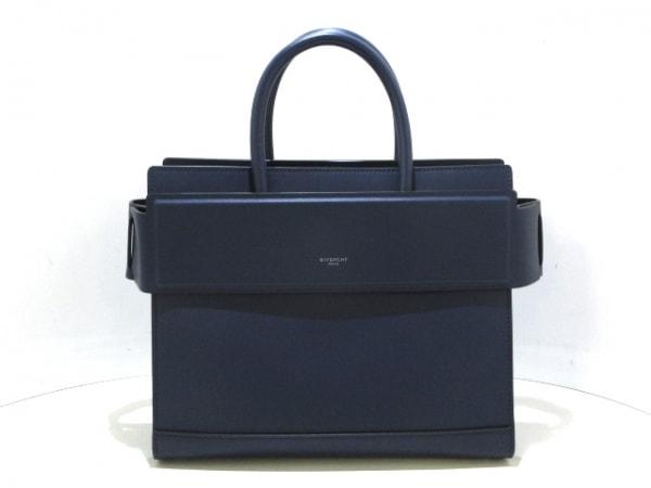 ジバンシー ハンドバッグ美品  ホライゾン スモール BB05555005 ネイビー レザー