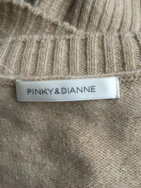 ピンキー&ダイアン ワンピース サイズ38 M レディース ベージュ ラメ/ニット