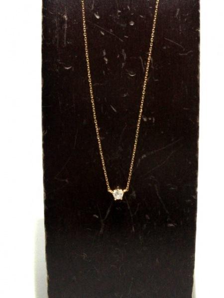 カナルヨンドシー ネックレス美品  K18PG×ダイヤモンド 1Pダイヤ/約0.10カラット