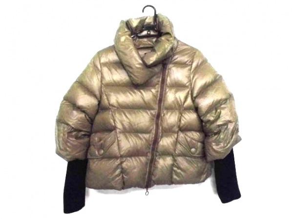 タトラス ダウンジャケット サイズ02 M レディース ミラ LTA-4143-11 カーキ×黒 冬物