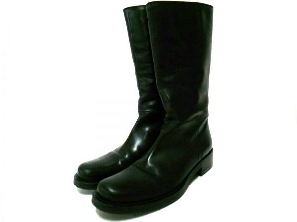 PRADA(プラダ) ブーツ メンズ 黒 レザー