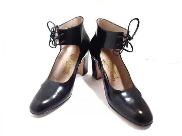 SalvatoreFerragamo(サルバトーレフェラガモ) 靴 5 レディース - 黒 レザー