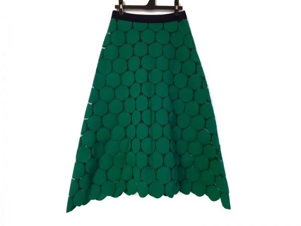 ルシェルブルー ロングスカート サイズ38 M レディース美品  ダークグリーン