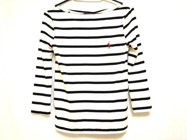 ポロラルフローレン 七分袖カットソー サイズXS レディース美品  白×黒 ボーダー