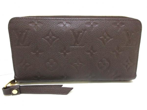 ルイヴィトン 長財布 モノグラム・アンプラント美品  ジッピー・ウォレット M60548