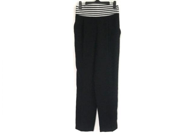ボーダーズアットバルコニー パンツ サイズ38 M レディース 黒×白