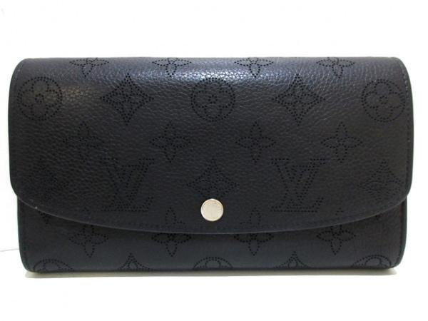 ルイヴィトン 長財布 マヒナ ポルトフォイユ・イリス M60143 ノワール マヒナ・レザー
