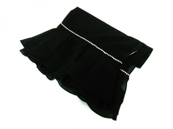 ピンキー&ダイアン ストール(ショール)新品同様  黒 ラインストーン 化学繊維