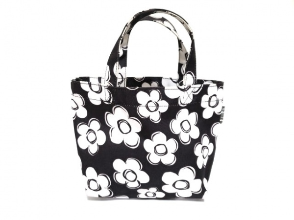 MARY QUANT(マリークワント) トートバッグ 黒×白 ミニバッグ ナイロン