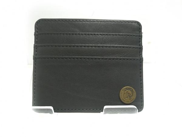 DIESEL(ディーゼル) カードケース美品  黒 レザー