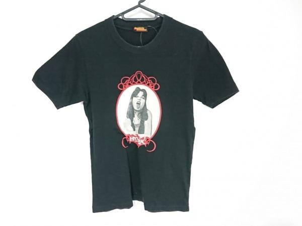 ヒステリックグラマー 半袖Tシャツ サイズF レディース 黒×ベージュ×レッド
