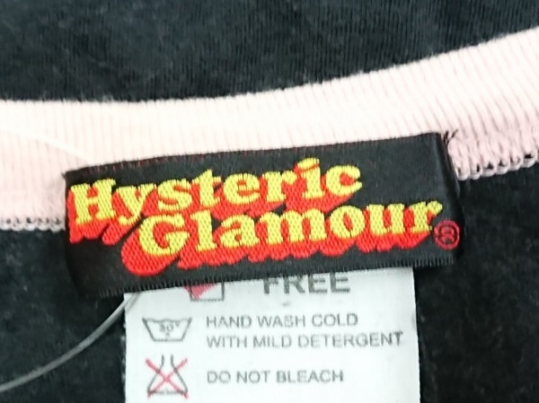 ヒステリックグラマー 長袖Tシャツ サイズF レディース 黒×ピンク×マルチ