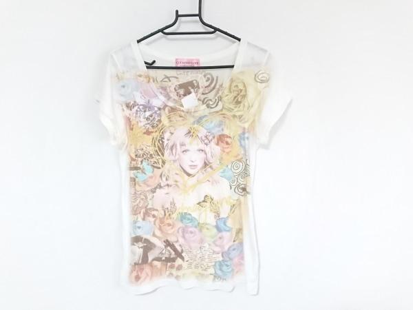 ヒステリックグラマー 半袖Tシャツ サイズF レディース 白×マルチ COURTNEY LOVE
