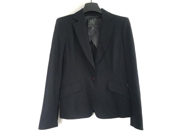 wb(ダブリュービー) ジャケット サイズ38 M レディース 黒 肩パッド