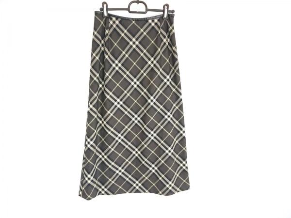 バーバリーロンドン スカート サイズ38 L レディース美品  グリーン×黒 チェック柄