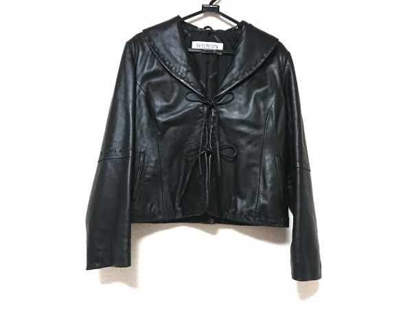 BALMAIN(バルマン) ジャケット レディース美品  黒 ラムレザー
