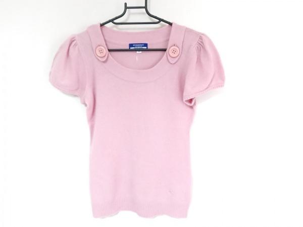 バーバリーブルーレーベル 半袖セーター サイズ38 M レディース ピンク