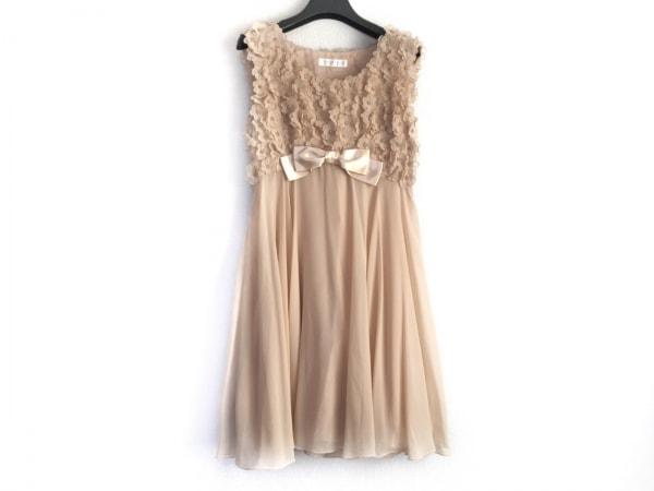 STRAWBERRY-FIELDS(ストロベリーフィールズ) ドレス レディース アイボリー×ベージュ
