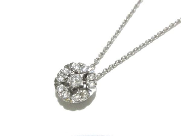 ポンテヴェキオ ネックレス美品  K18WG×ダイヤモンド 11Pダイヤ/0.13カラット/スター