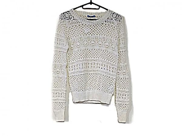 ギルドプライム 長袖セーター サイズ34 S レディース新品同様  白 透かし編み