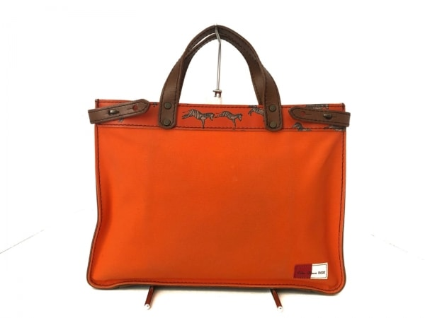 Calen Blosso(カレンブロッソ) トートバッグ オレンジ×ブラウン Calen Blosso 2000