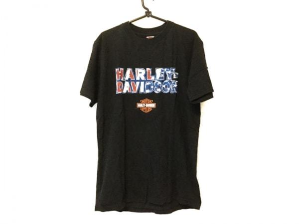 HARLEY DAVIDSON(ハーレーダビッドソン) 半袖Tシャツ サイズM メンズ 黒×マルチ