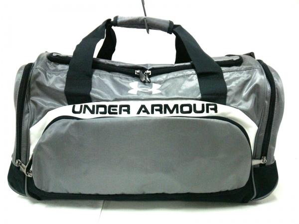 UNDER ARMOUR(アンダーアーマー) ボストンバッグ美品  ライトグレー×黒×白 ナイロン