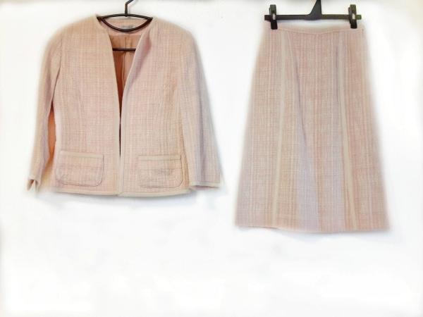 ボールジー スカートスーツ サイズ36 S レディース ピンク×アイボリー チェック柄
