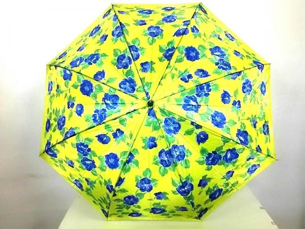 GIVENCHY(ジバンシー) 折りたたみ傘 ライトグリーン×ブルー×グリーン 花柄 ナイロン