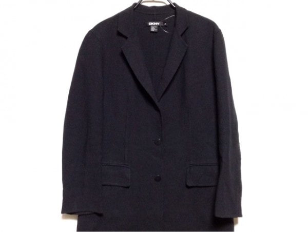 DKNY(ダナキャラン) コート サイズ4 XL レディース ダークネイビー 春・秋物