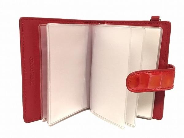 COCCO FIORE(コッコフィオーレ) カードケース レッド 型押し加工 3