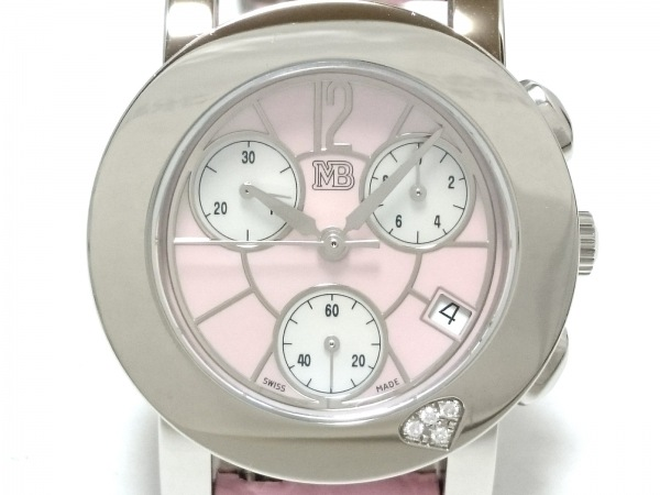 Marina B(マリナ B) 腕時計 レディース シェル文字盤/革ベルト ピンク