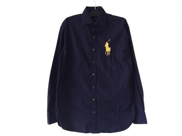 RalphLauren(ラルフローレン) 長袖シャツ メンズ ダークネイビー×イエロー 刺繍