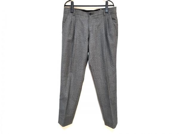 ドルチェアンドガッバーナ パンツ サイズ46 S メンズ グレー×黒 チェック柄