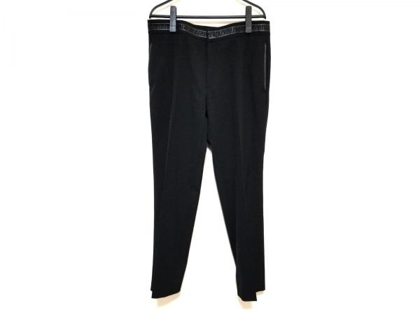 VERSACE(ヴェルサーチ) パンツ サイズ48 XL メンズ 黒 一部レザー