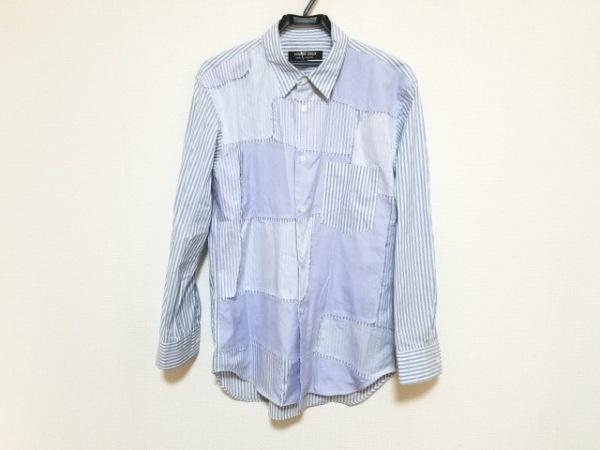 コムデギャルソンオムドゥ 長袖シャツ サイズM メンズ美品  パープル×白×ブルー