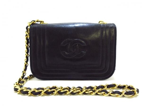 シャネル ショルダーバッグ美品  - 黒 チェーンショルダー/ゴールド金具/ミニサイズ