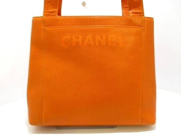 CHANEL(シャネル) ショルダーバッグ - オレンジ キャビアスキン