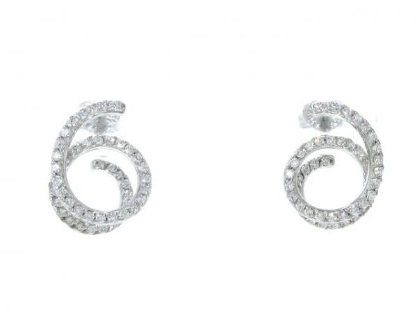 PonteVecchio(ポンテヴェキオ) ピアス美品  K18WG×ダイヤモンド ダイヤ0.56カラット