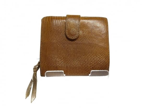 BOTTEGA VENETA(ボッテガヴェネタ) 2つ折り財布 - 121059 ブラウン リザード