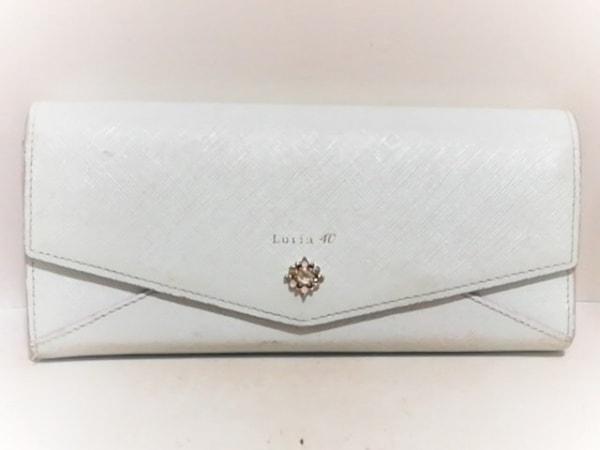 4℃(ヨンドシー) 長財布 ライトブルー ラインストーン/Luria レザー